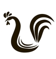 rooster or cock vector image