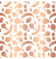 rose gold foil fruits seamless pattern vector image