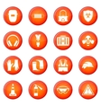 Safety icons set vector image vector image