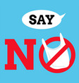 say no plastic bags graphic background label or vector image vector image