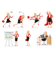 set flat style icons businesswoman in different vector image