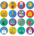 set of sixteen icons business management and human vector image