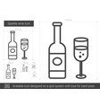 sparkle wine line icon vector image vector image