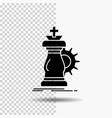 strategy chess horse knight success glyph icon on vector image