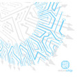 technology communication cybernetic element vector image