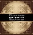 the golden invitation vintage floral pattern vector image vector image