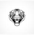 tiger face mask logo tatoo animal vector image