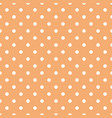tile pattern with white polka dots on pastel coral vector image vector image