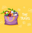 time to travel logo vector image vector image