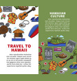 travel to hawaii vertical posters with national vector image