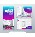tri fold brochure design cool business template vector image vector image