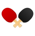 two crossed ping-pong rackets vector image