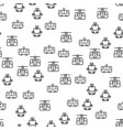types of rail transport seamless pattern vector image vector image