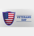 veterans day concept background realistic style vector image