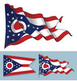 waving flag state ohio vector image vector image