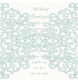 Wedding Invitation card with ornaments vector image vector image