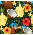 Seamless tropical cocktail vector image