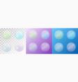 set of transparent matte soap bubbles vector image