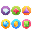 Set of flat icons with precious jewels vector image