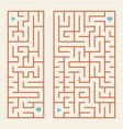 a set of rectangular colored labyrinths a simple vector image vector image
