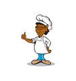 African American Chef Cook Thumbs Up Cartoon vector image vector image