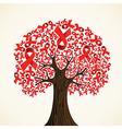 AIDS ribbon tree vector image vector image