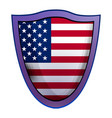america shield icon realistic style vector image vector image