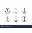 anchor emblems yacht style design vector image vector image