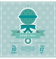 Baby Shower design maraca icon Blue vector image vector image