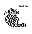 big graceful cat vector image vector image