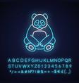 big panda neon light icon vector image