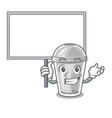 bring board plastic cup in the cartoon form vector image