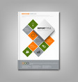 brochures book or flyer with cube abstract info vector image vector image