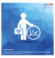 business man and progress icon vector image