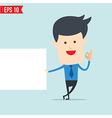 Business man show board vector image vector image