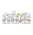 business people and social network vector image vector image