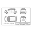 car template on white background hatchback vector image vector image