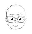 cartoon happy young boy with glasses teacher day vector image vector image