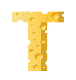 cheese letter T vector image vector image