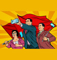 chinese businessmen with smartphones and flags vector image