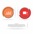 circle infographic template with presentation and vector image vector image