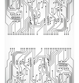 Circuit board background vector image vector image