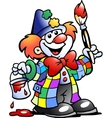 clown painting vector image vector image