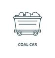 coal car line icon coal car outline sign vector image vector image