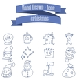 Collection stock Christmas theme icons vector image vector image