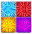 colorful comic explosive backgrounds vector image vector image