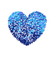 colorful of blue heart vector image vector image