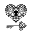 Decorative Key And Lock vector image vector image