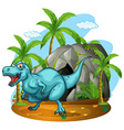 Dinosaur living in the cave vector image vector image