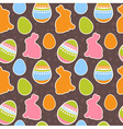 Easter eggs and bunnies colorful seamless pattern vector | Price: 1 Credit (USD $1)